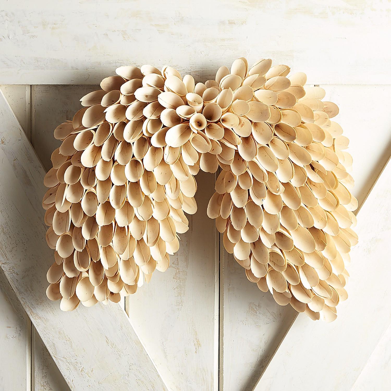 Angel Wings Woodcurl Wreath
