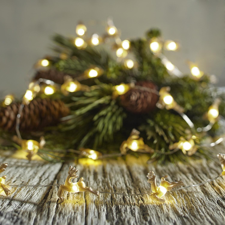 Gold Reindeer 10' LED Glimmer Strings®