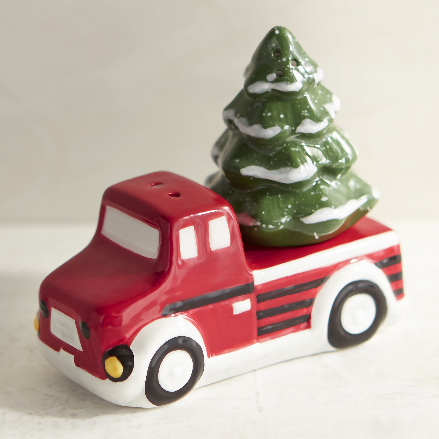 Christmas Tree & Truck Salt & Pepper Shakers