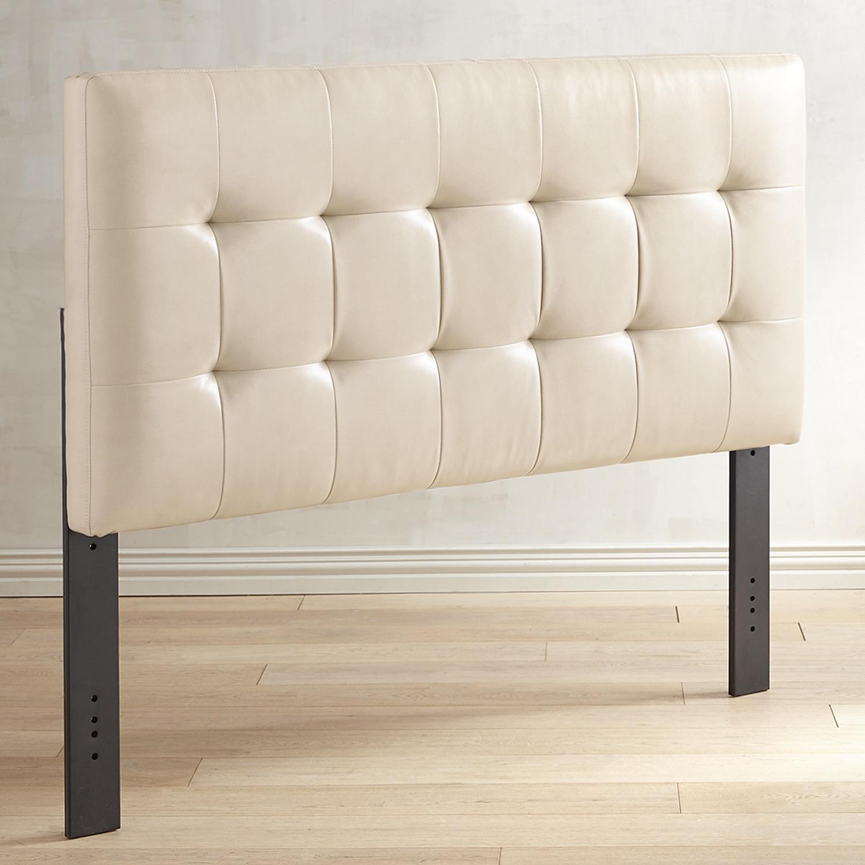 Mattie II Queen Ivory Upholstered Headboard