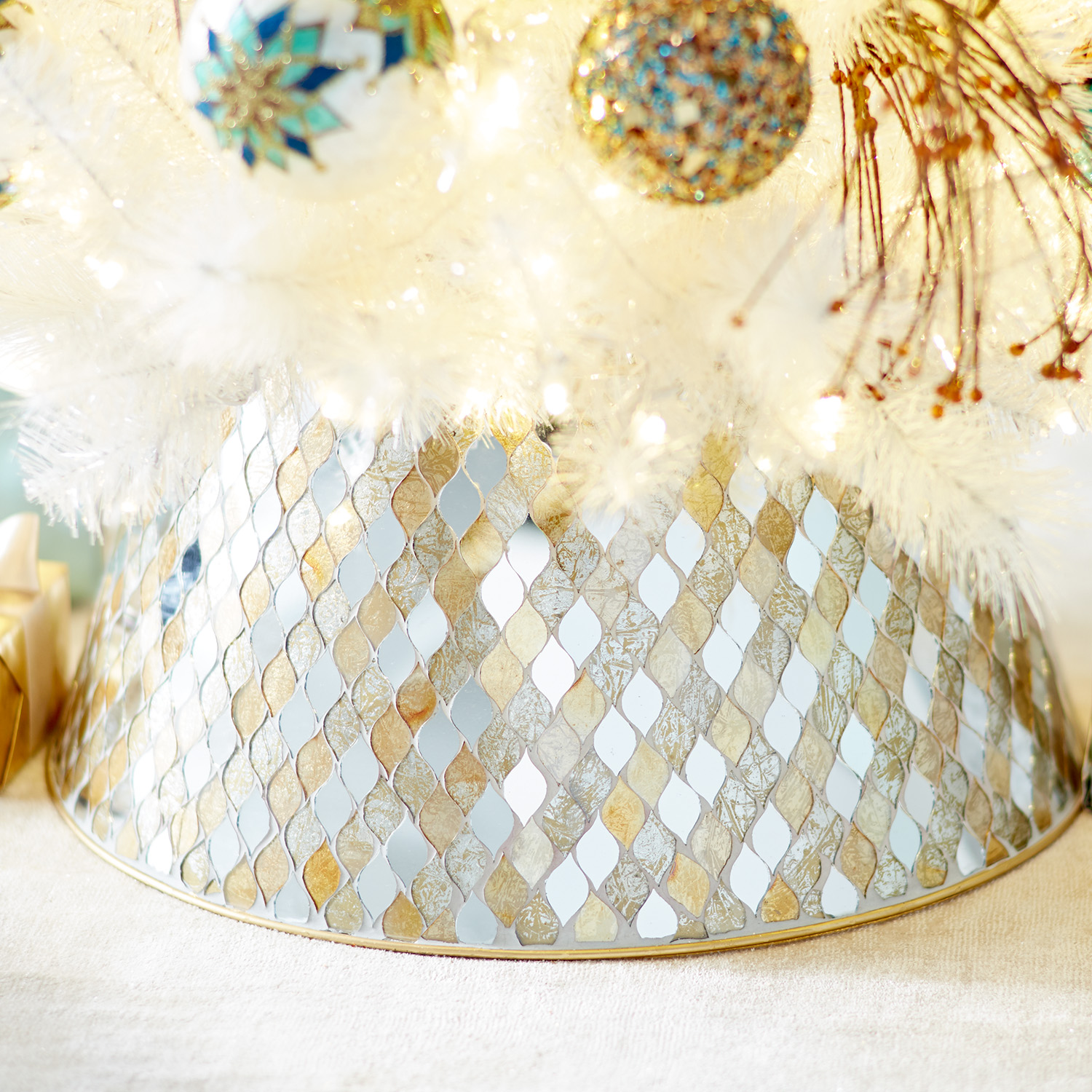 Gold & Silver Mosaic Tree Collar