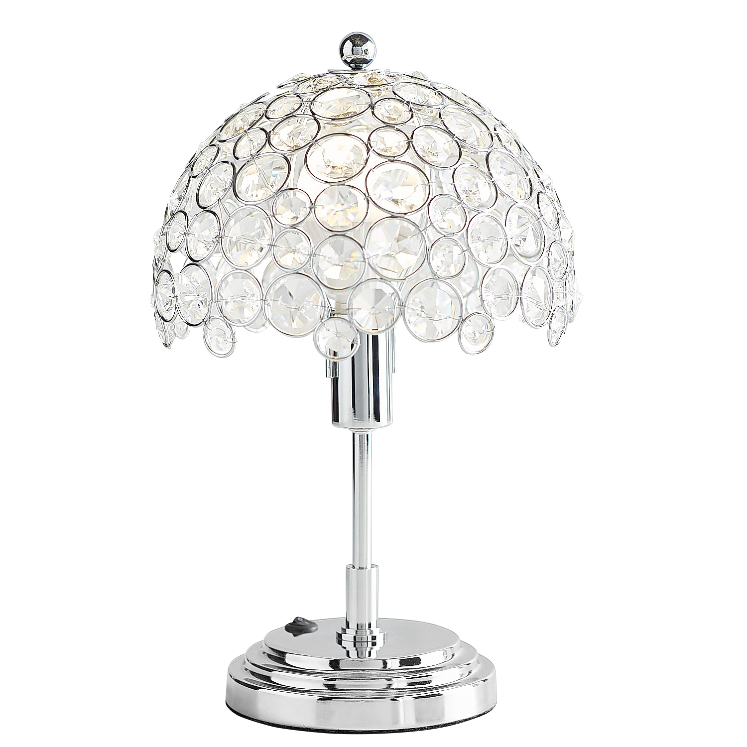 Crystal Bead Mini Cordless Lamp with LED Bulb