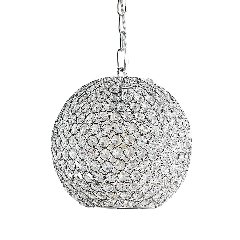Crystal Bead Orb Pendant Light