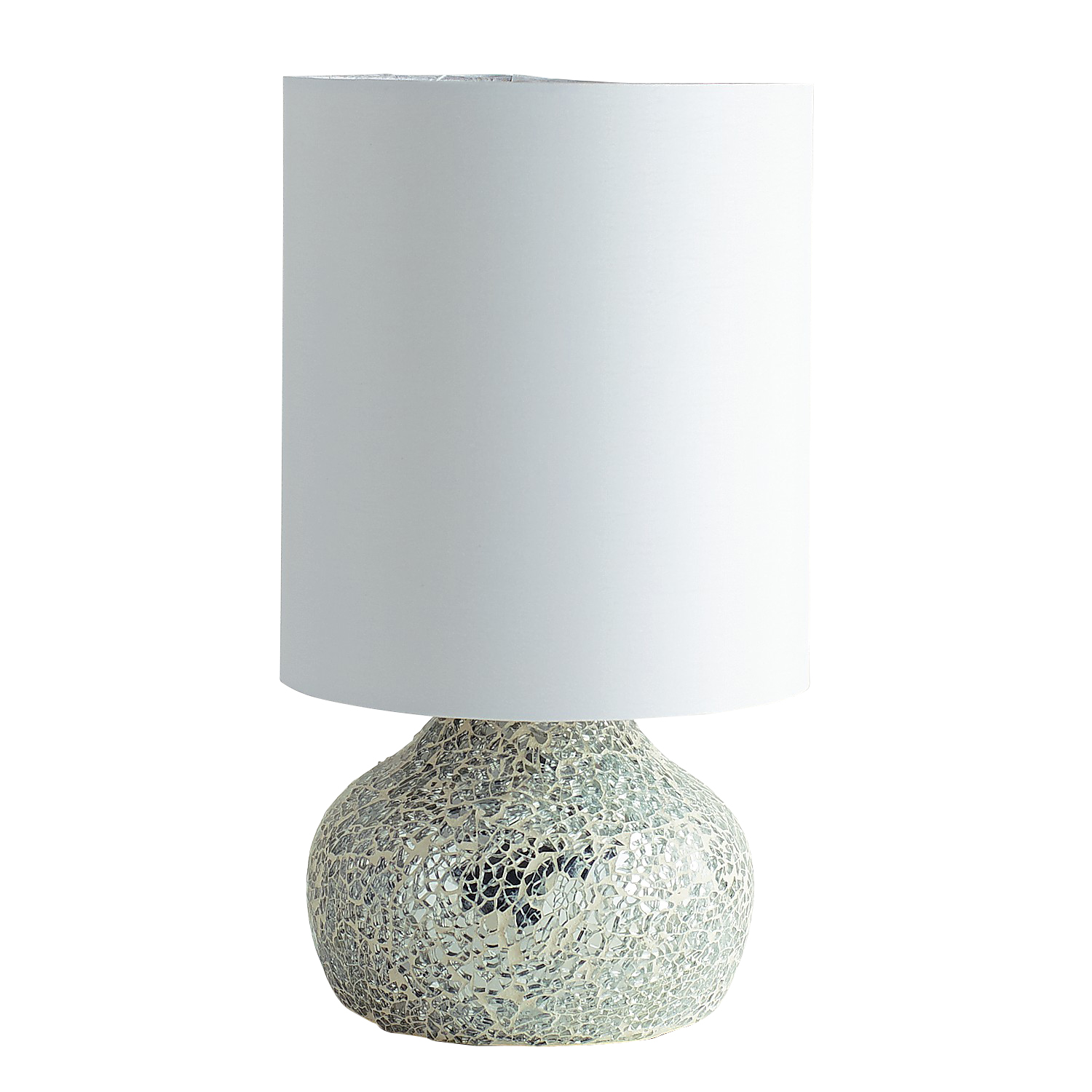 Silver Mosaic Mini Lamp