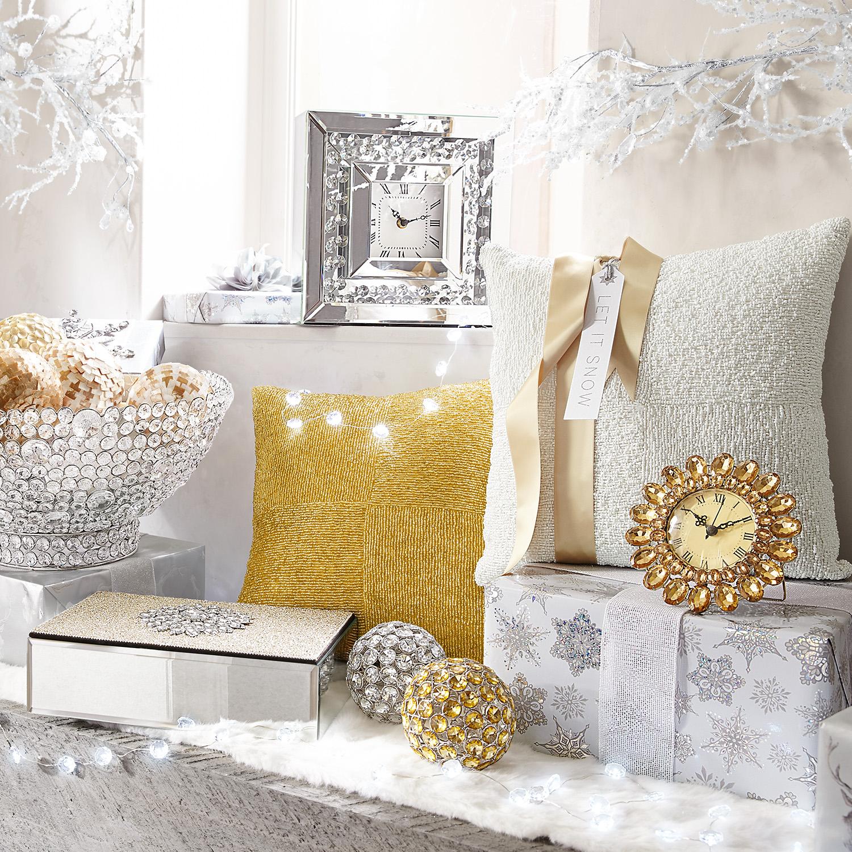 Beaded & Gilded Gold Box Pillow