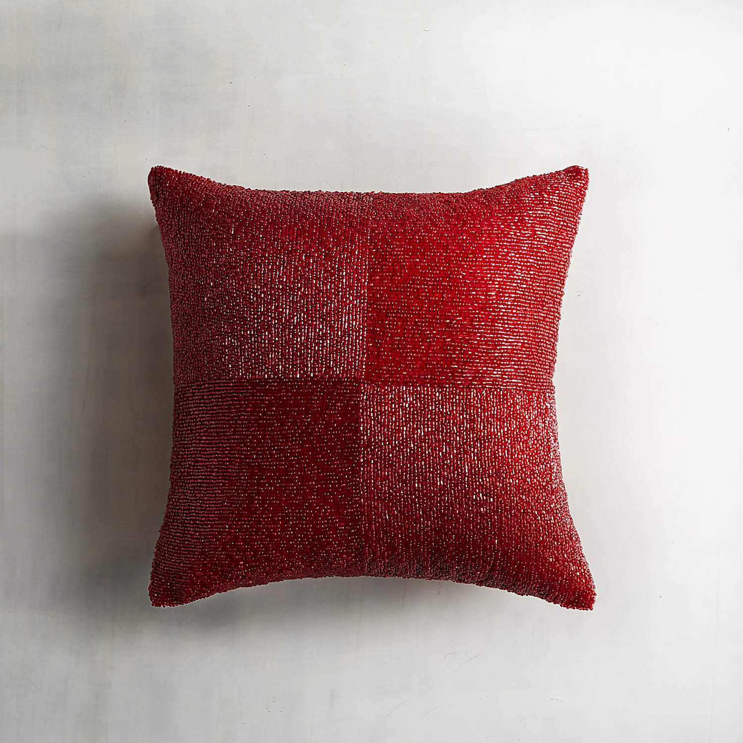 Red Beaded Box Pillow
