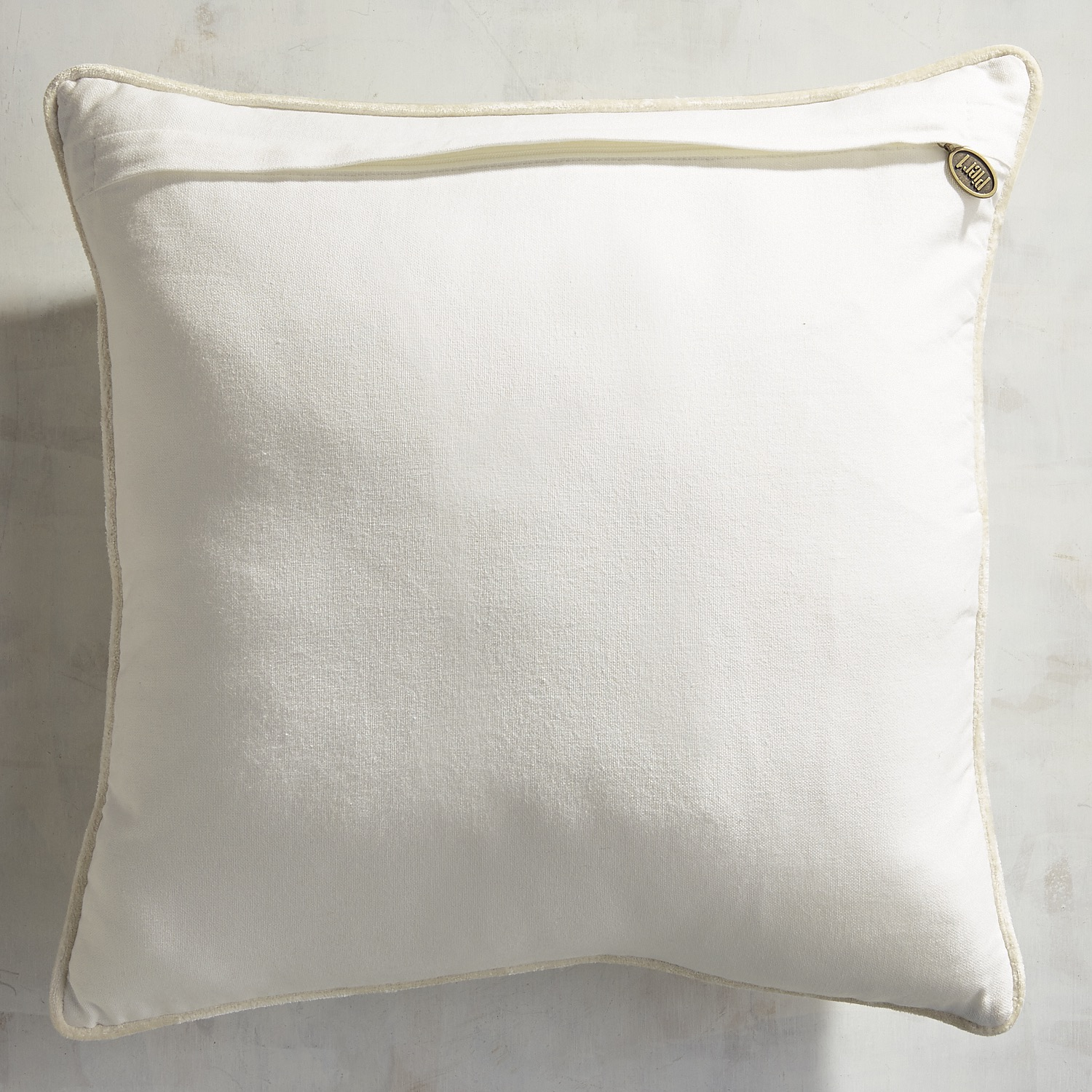 Gold Beaded Wing Heart Pillow