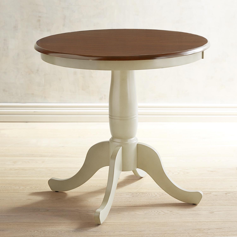 "Keeran Bistro 29.5"" Antique Ivory Round Table"