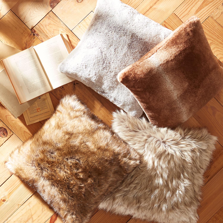 Ombre Faux Fur Sable Pillow