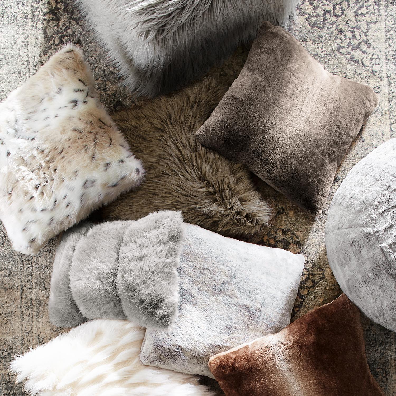 Faux Fur Ombre Mink Pillow