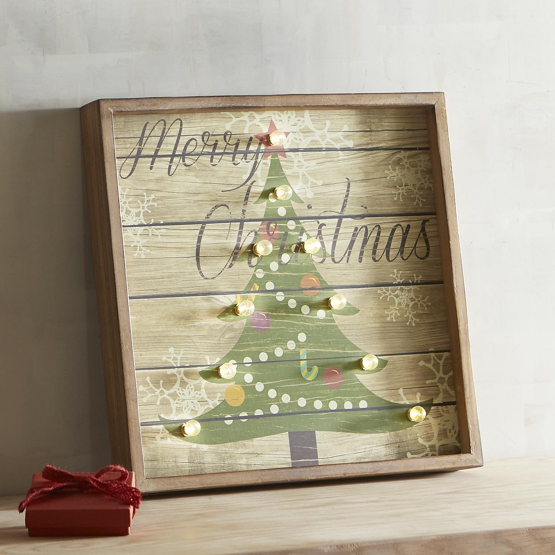 LED Marquee Christmas Tree Wall Decor