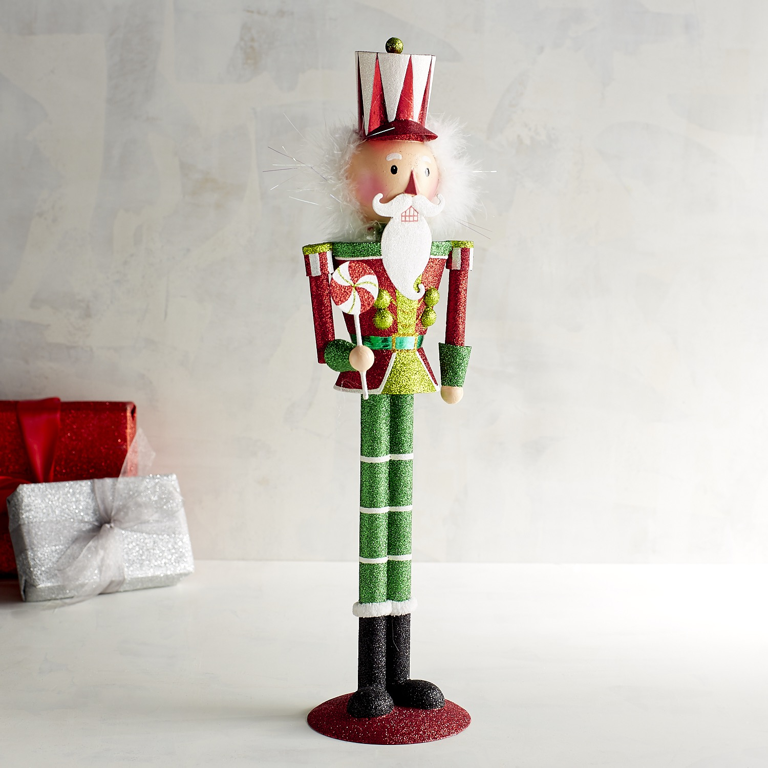 Red Glitter Nutcracker