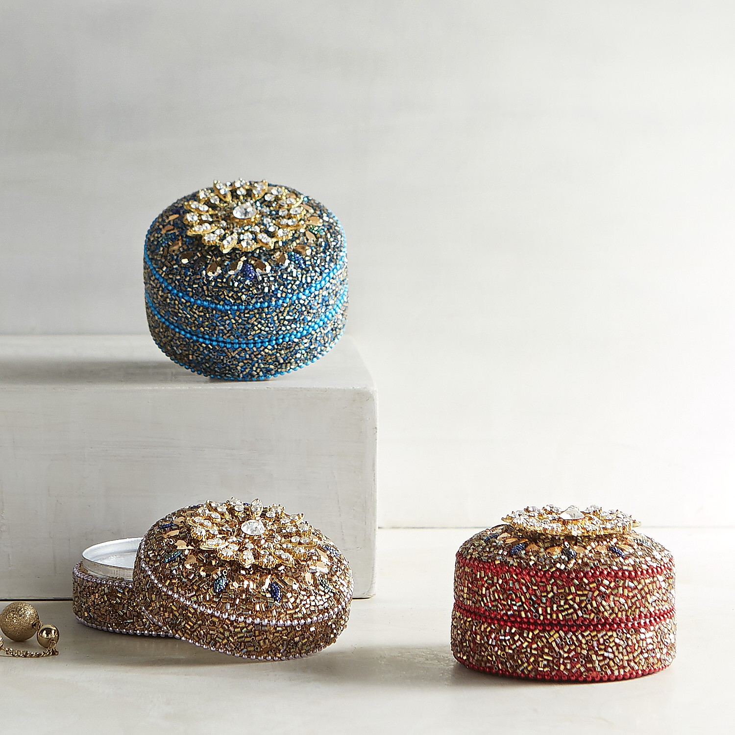 Set of 3 Brooch Mini Boxes
