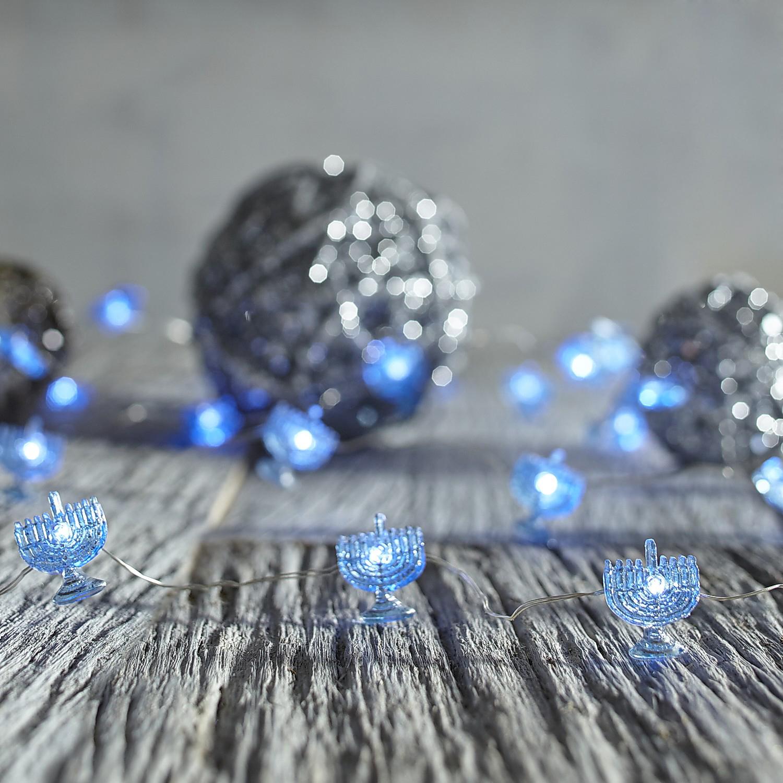 Blue Menorah 10' LED Glimmer Strings®