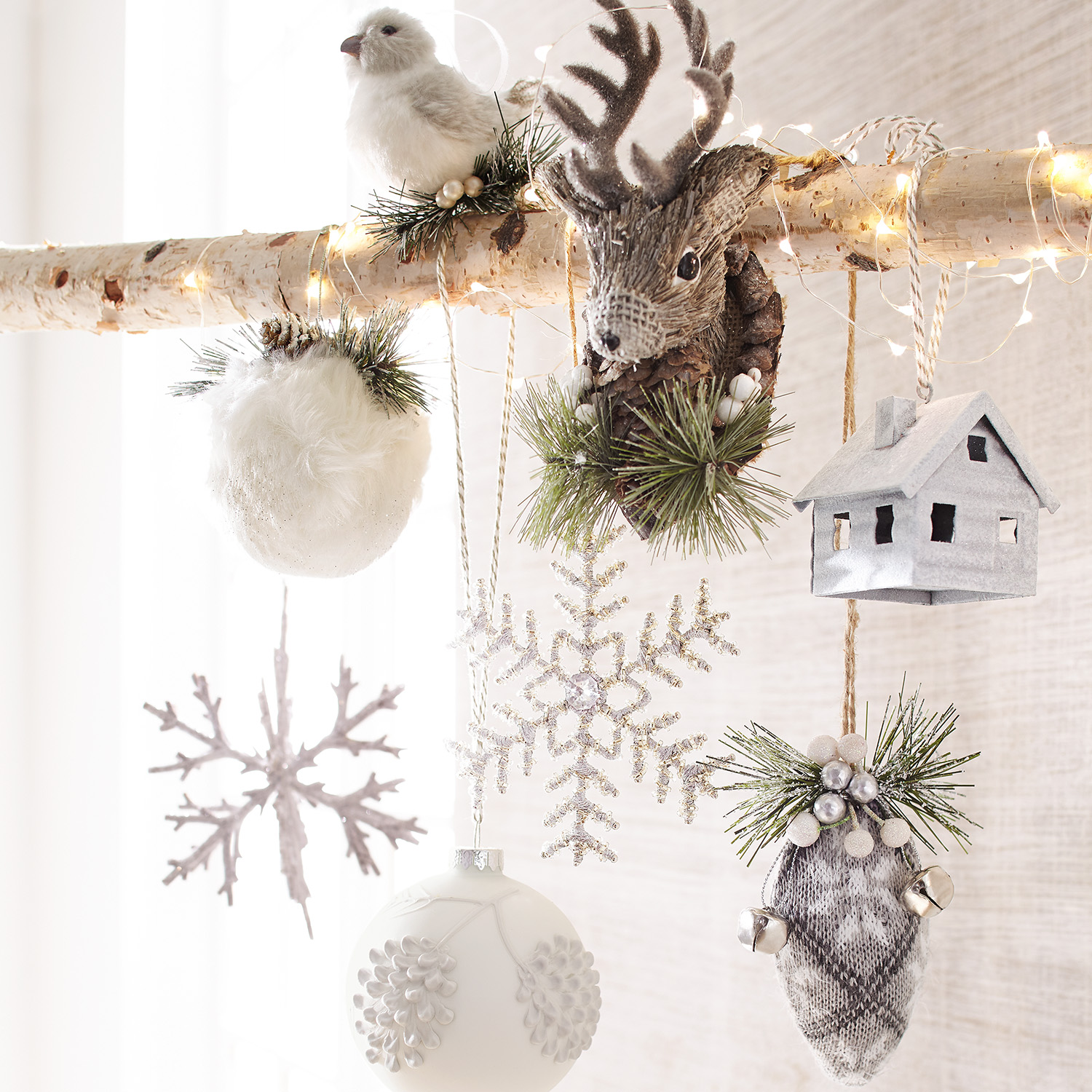 Metal Cabin Ornament