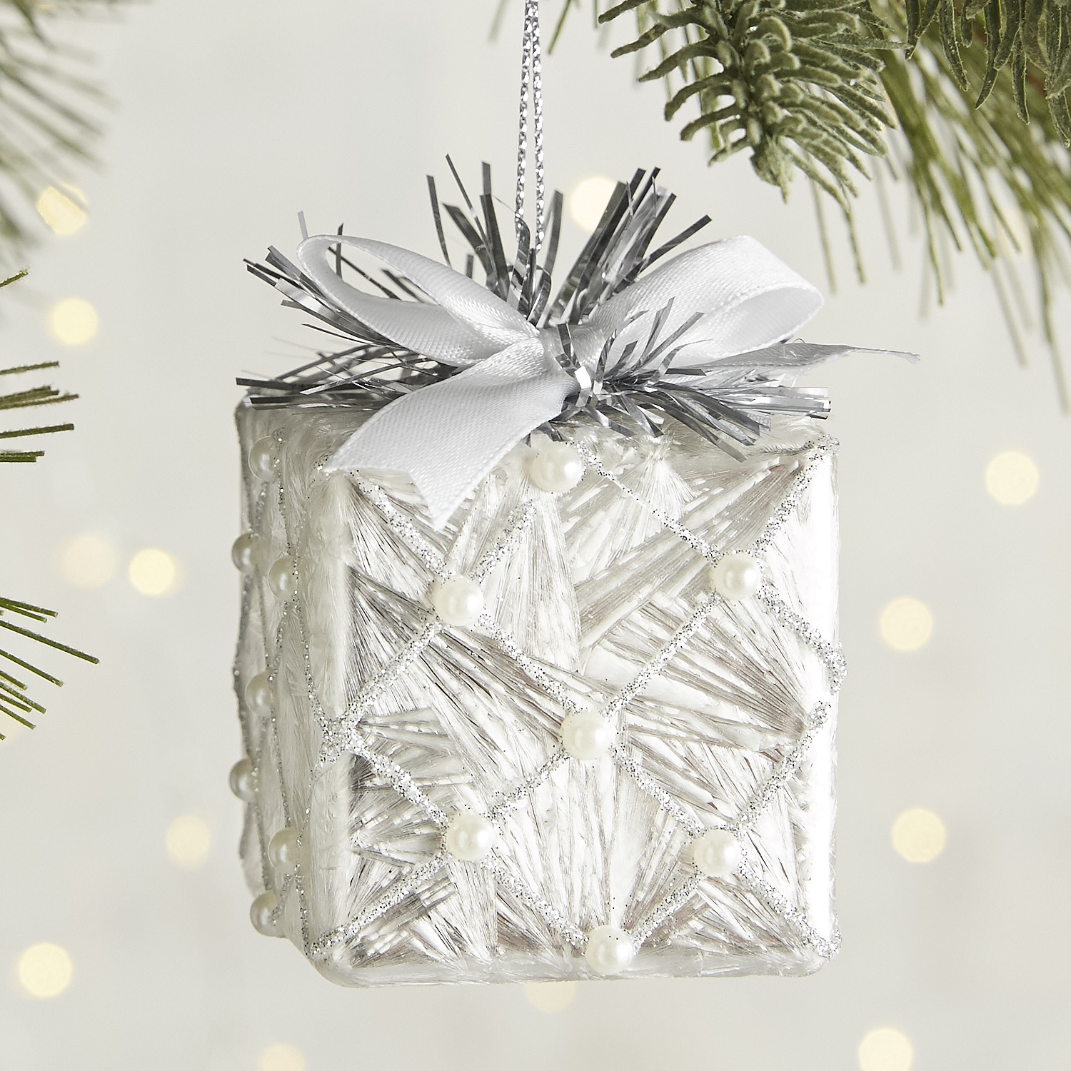 Package with Bow Ornament
