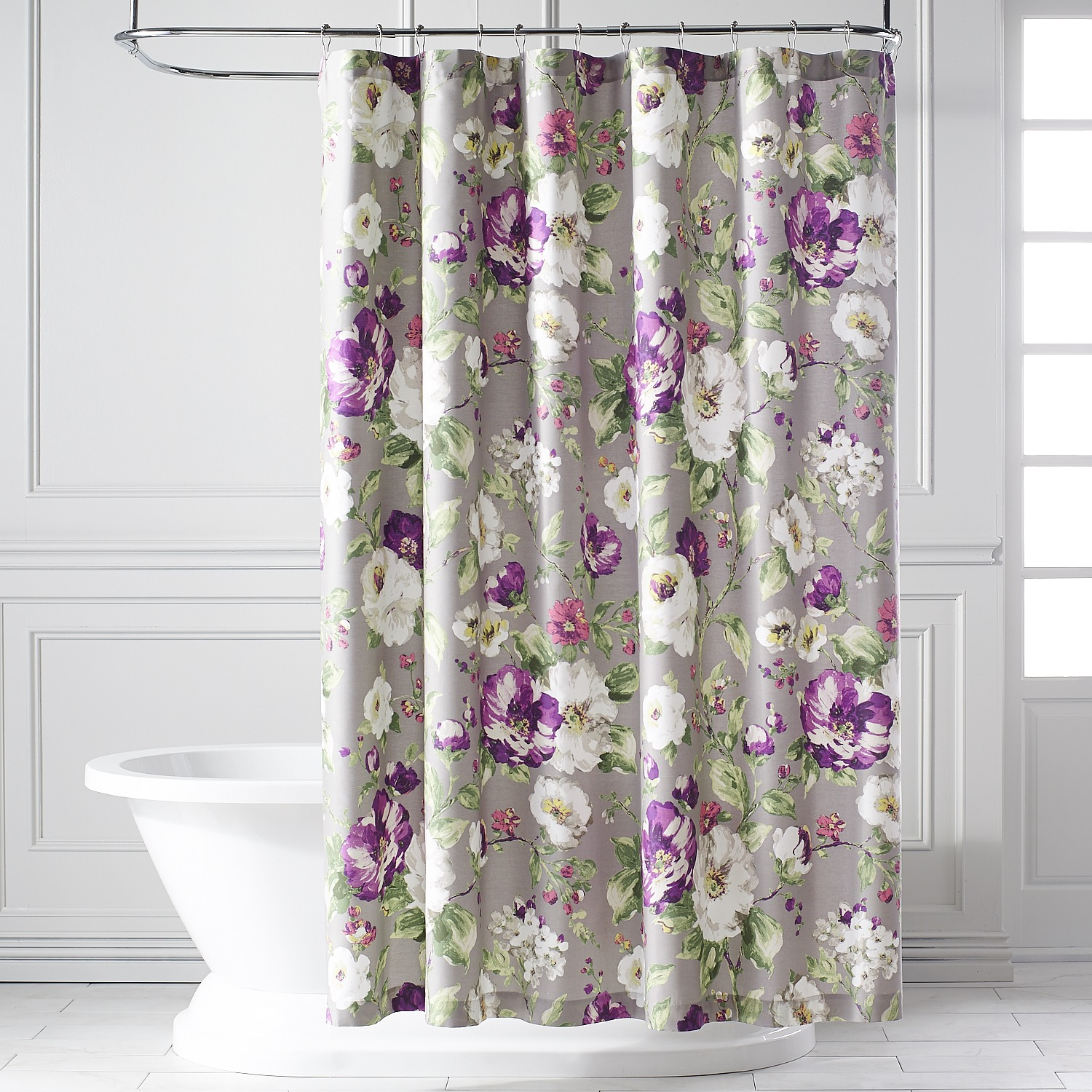 Misted Blooms Shower Curtain