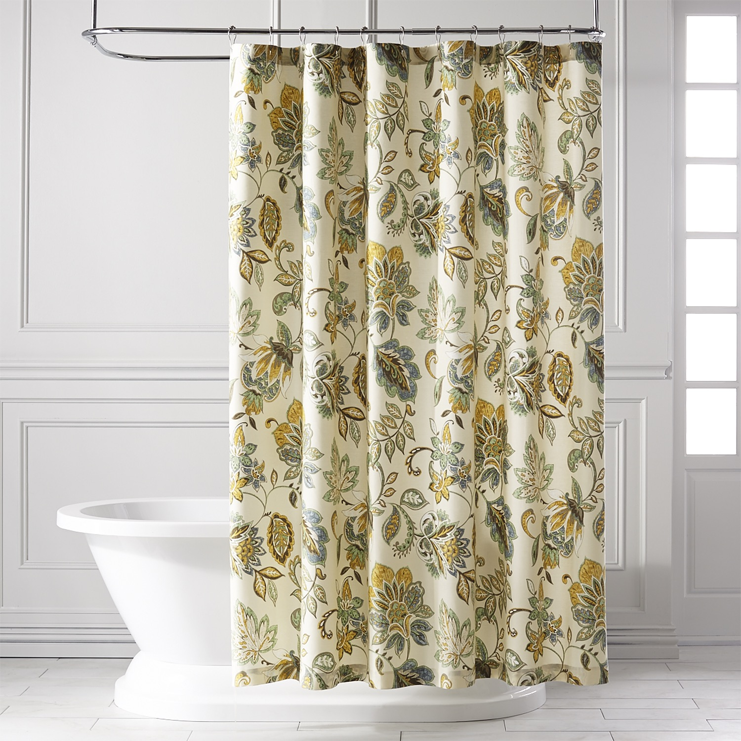 Glencove Blue Shower Curtain