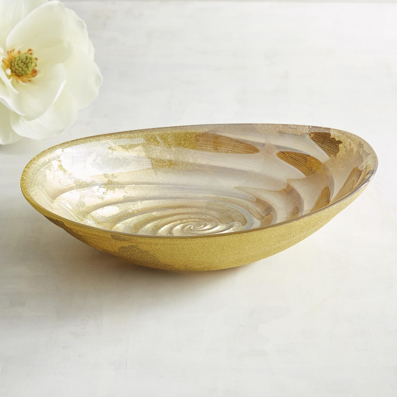 Glittered Gold Decorative Bowl