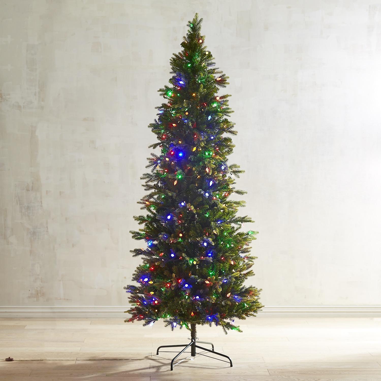 Pre-Lit Artificial Noble Fir Slim 9' Tree