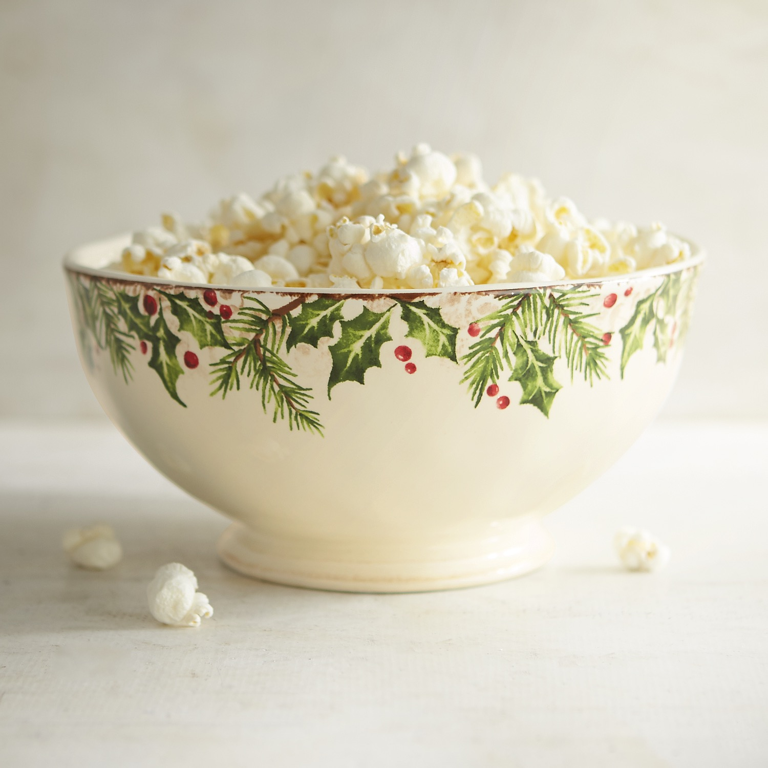 Winter's Wonder Holly & Tree Serving Bowl