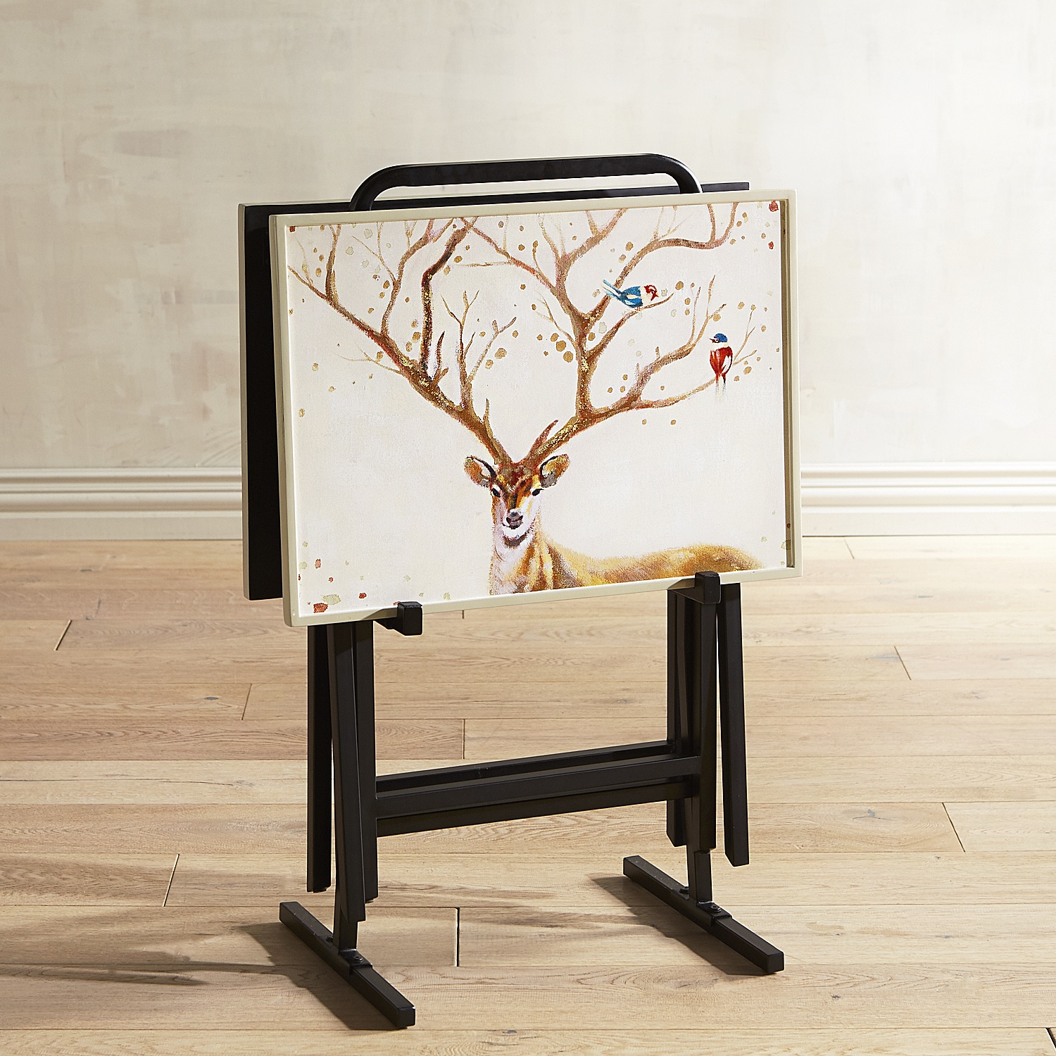 Alexander the Deer TV Tray Set