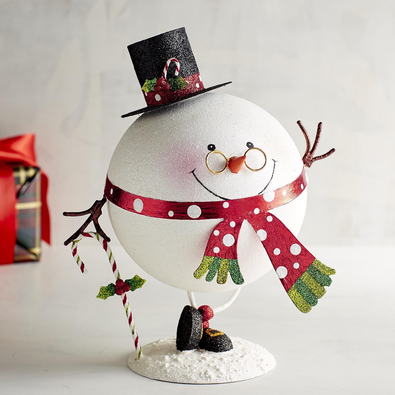 Glitter Round Snowman