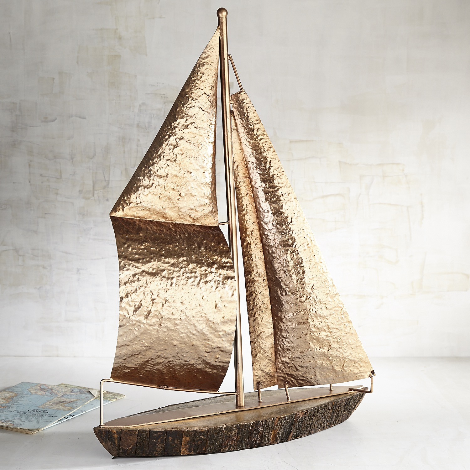 Sailboat with Wooden Base