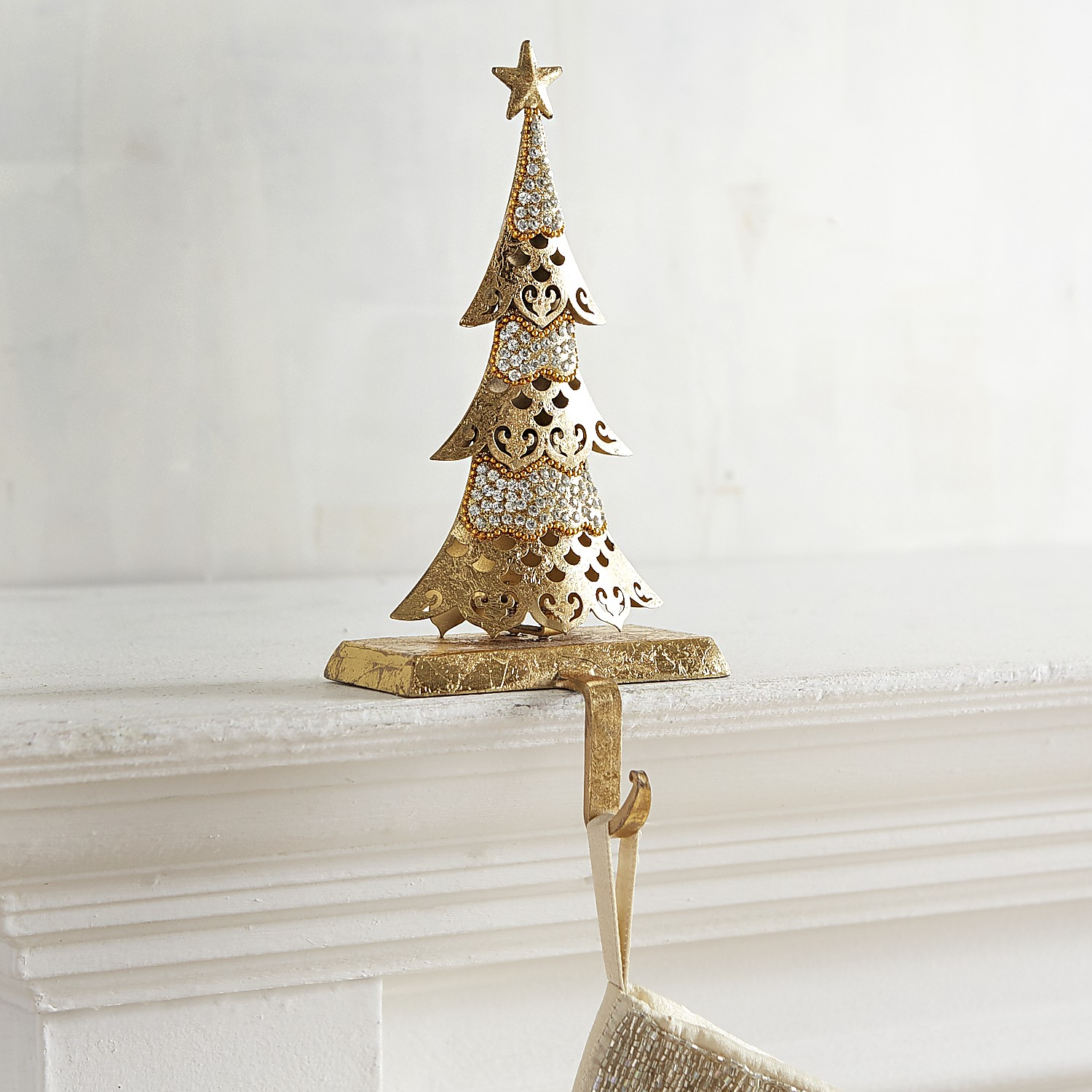 Tree with Gems Stocking Holder