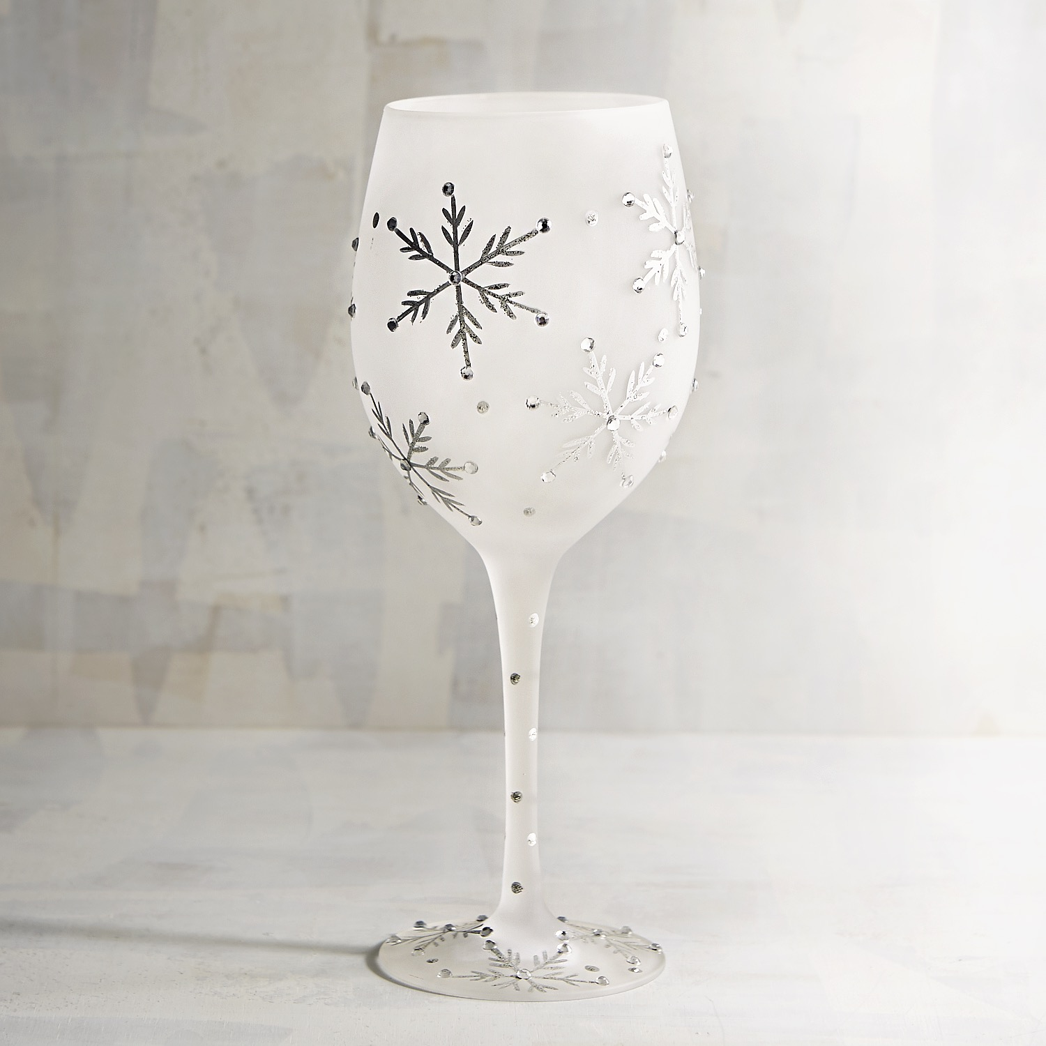 Frosted Snowflake Wine Glass