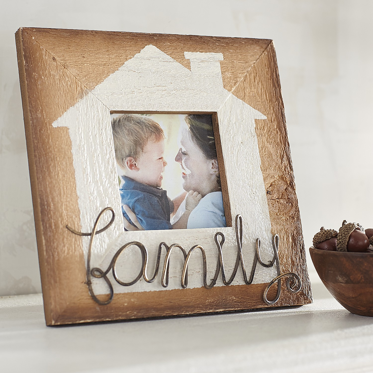 Family is Home 4x4 Photo Frame