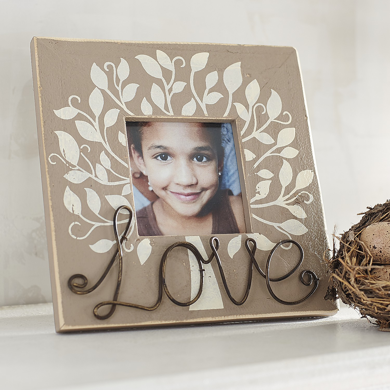 Love Grows 4x4 Photo Frame