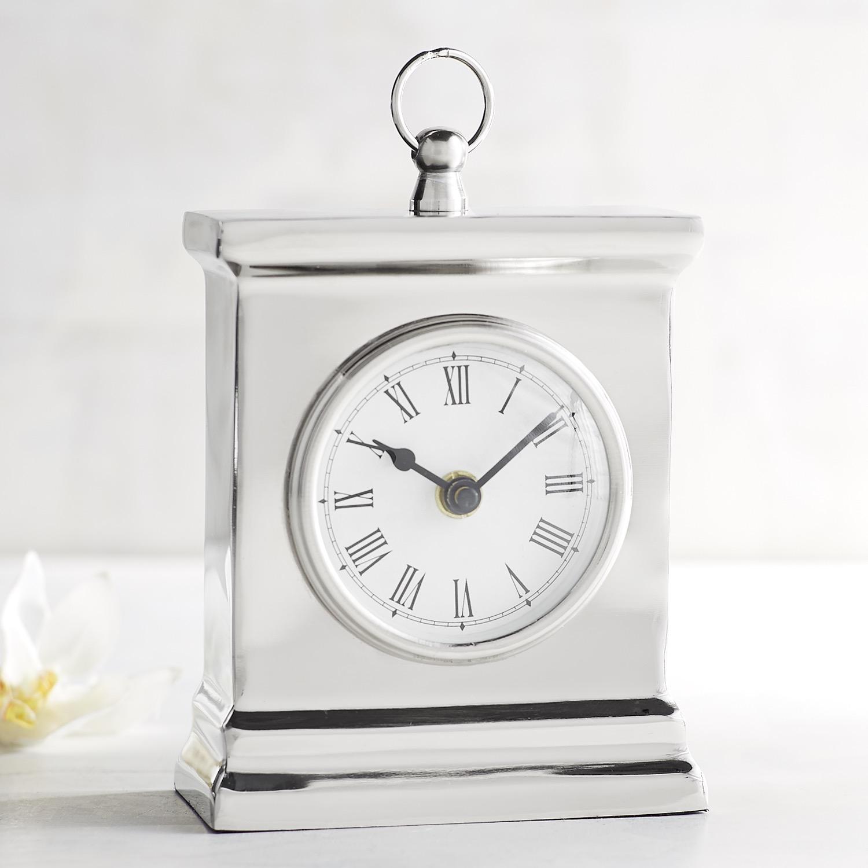 Silver Mini Clock