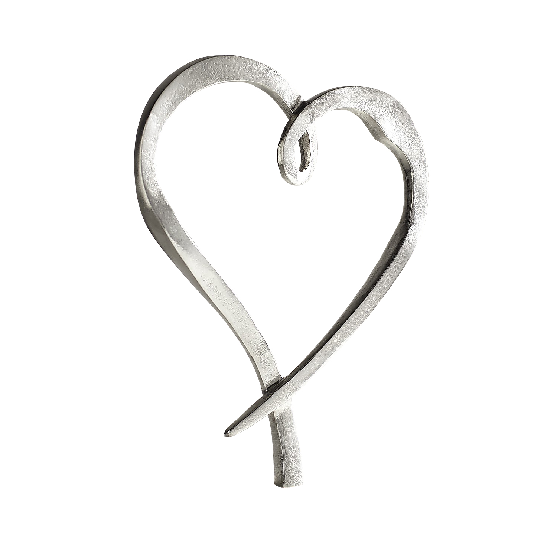 Modern Heart on Marble Base