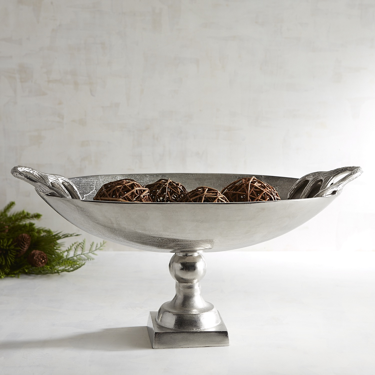 Decorative Oval Bowl with Deer Head Handles