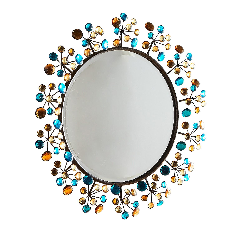 "Peacock Dazzle 24"" Round Mirror"