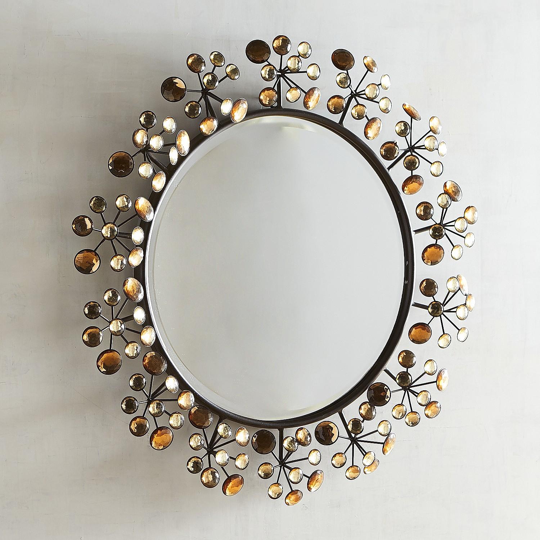 """Amber Dazzle 24"""" Round Mirror"""