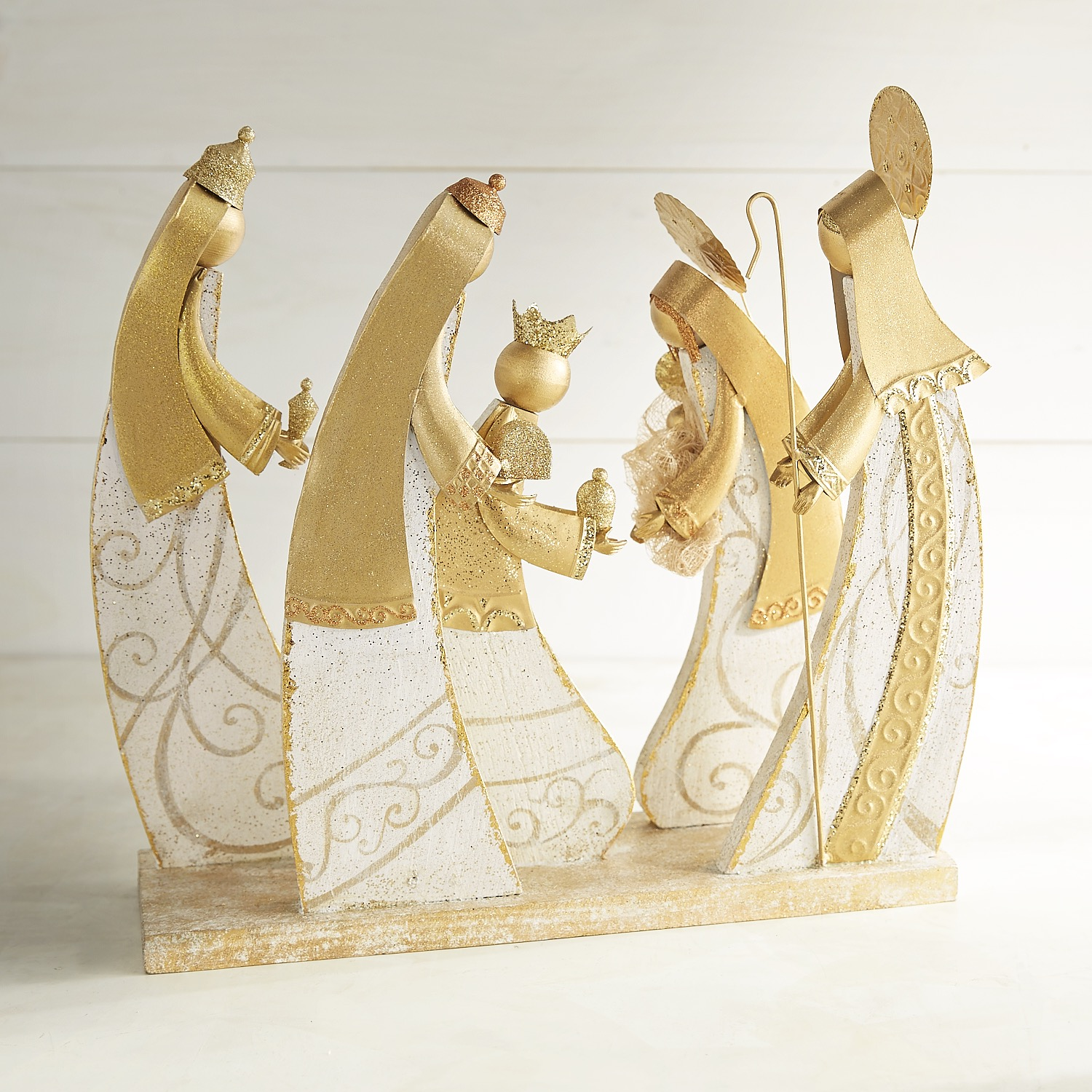 Wood & Metal Nativity