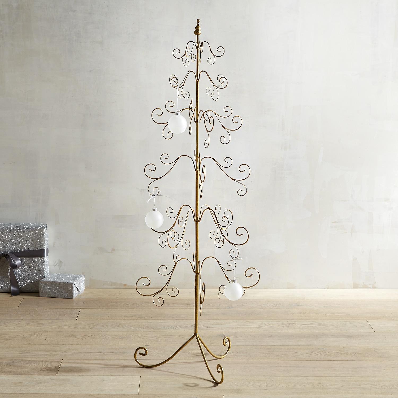 Gold 4' Floor Ornament Tree