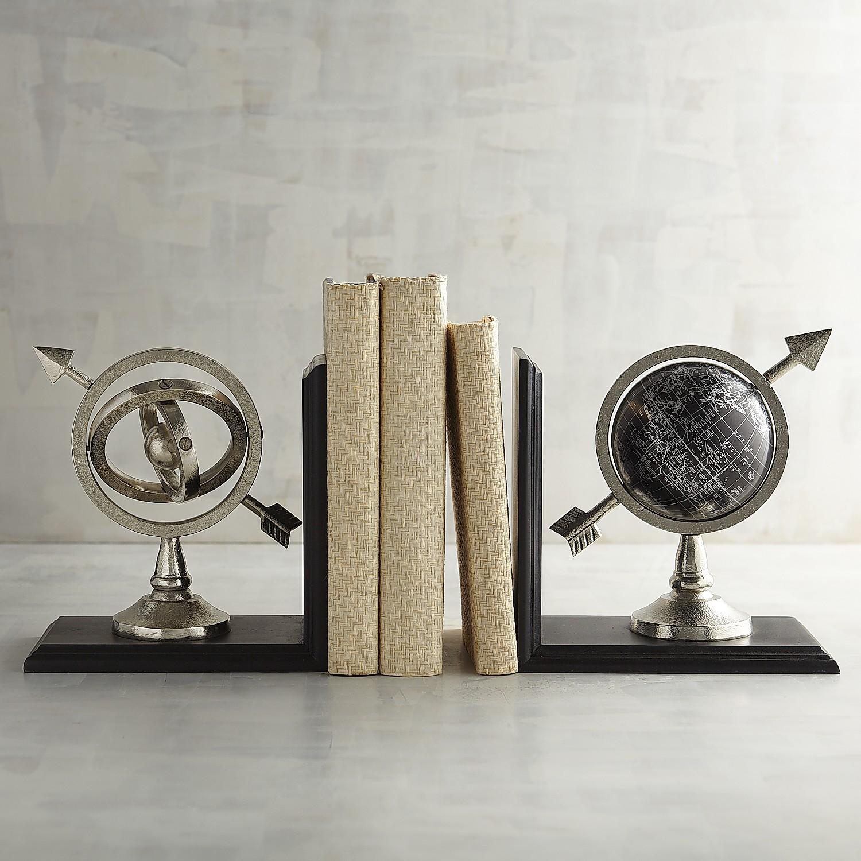 Globe & Armillary Bookend Set