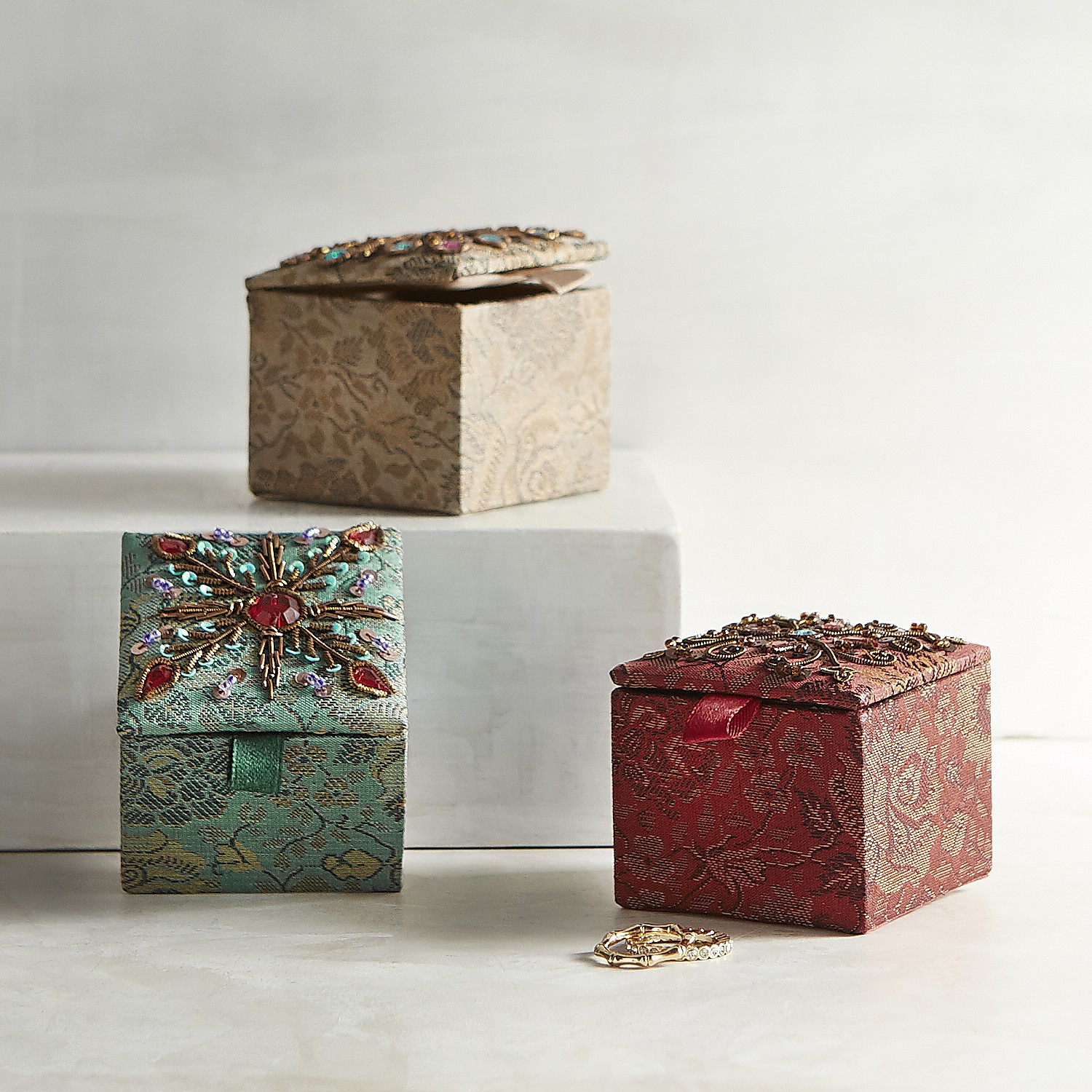 Set of 3 Jacquard Mini Boxes