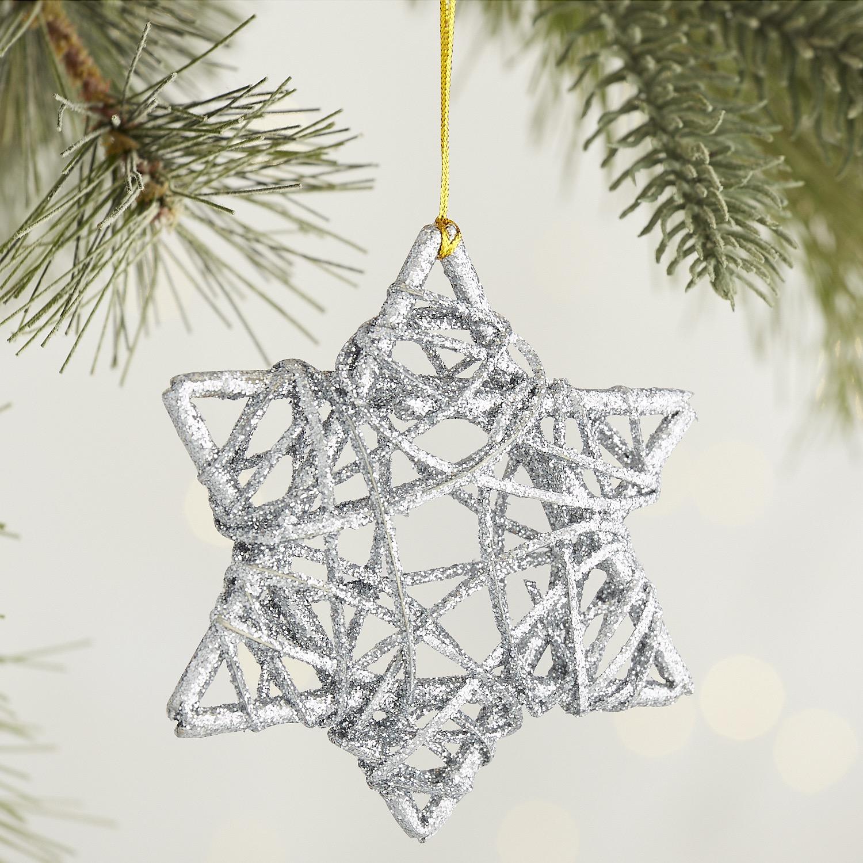 Glitter Star of David Ornament