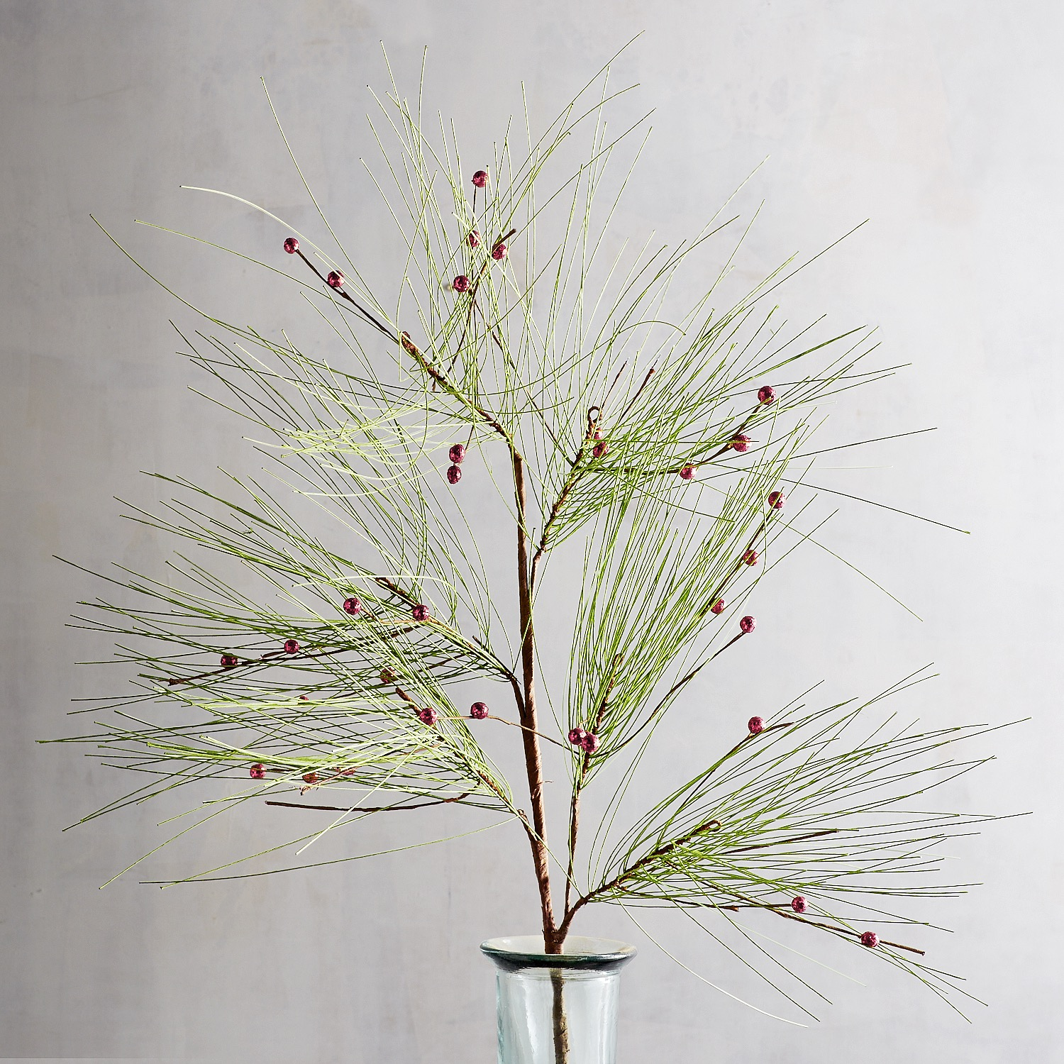 Faux Pine with Berries Spray