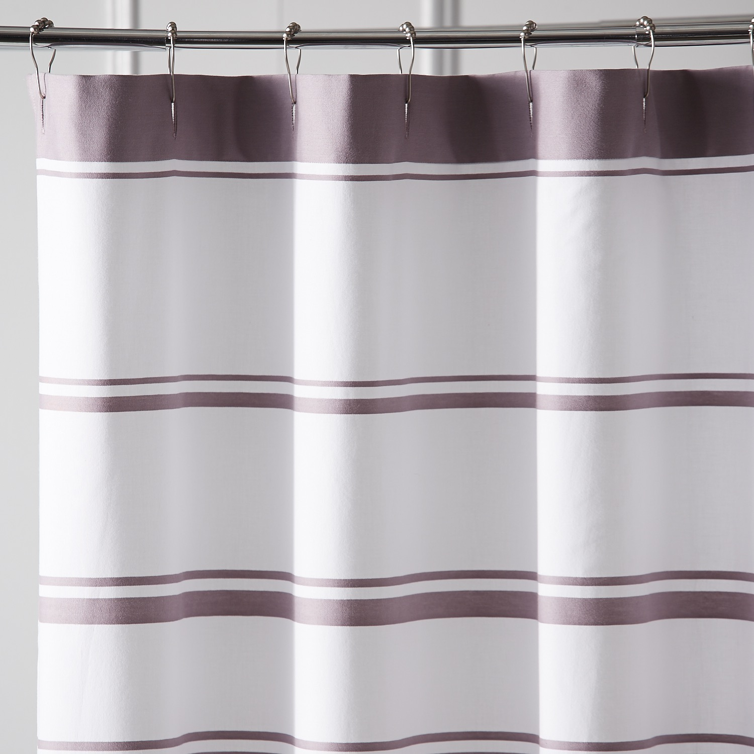 Striped Lilac Shower Curtain