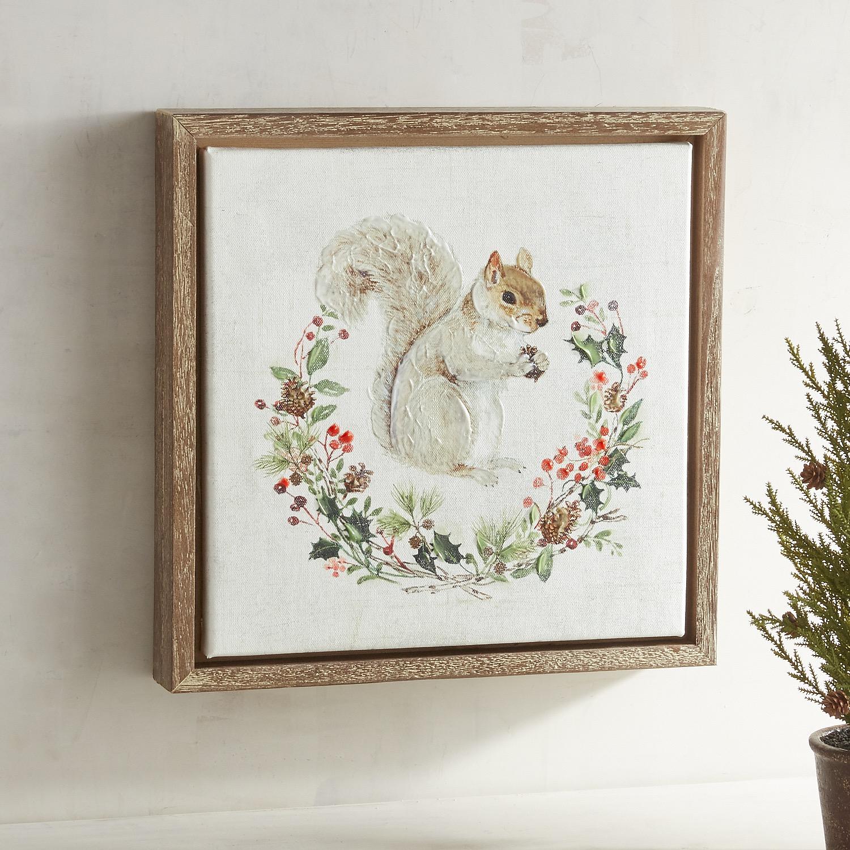 Squirrel in Wreath Art