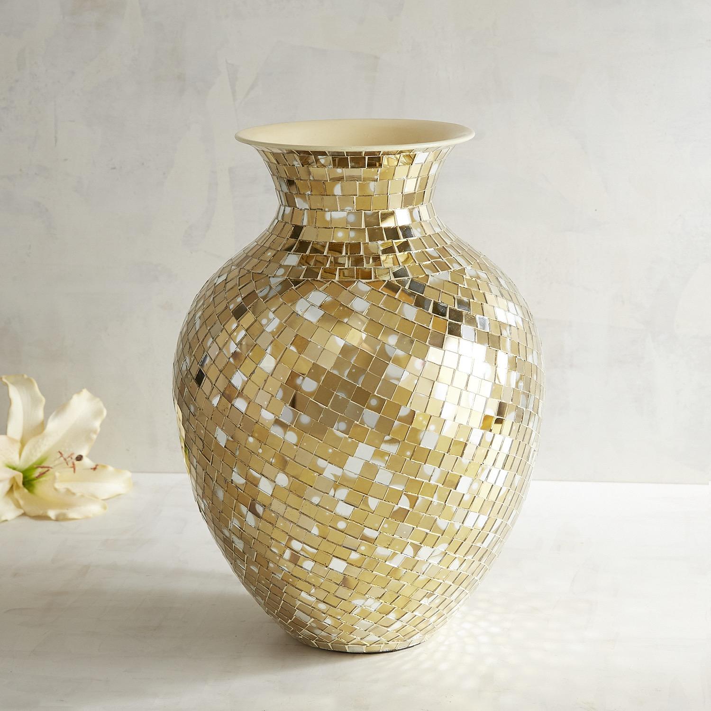 Golden Mosaic Vase
