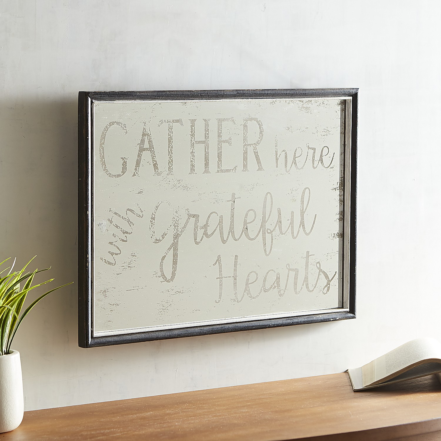 Gather Here Framed Wall Decor