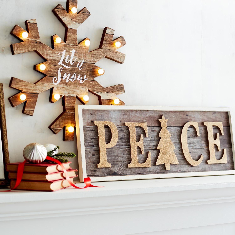Peace Glitter Wall  Decor