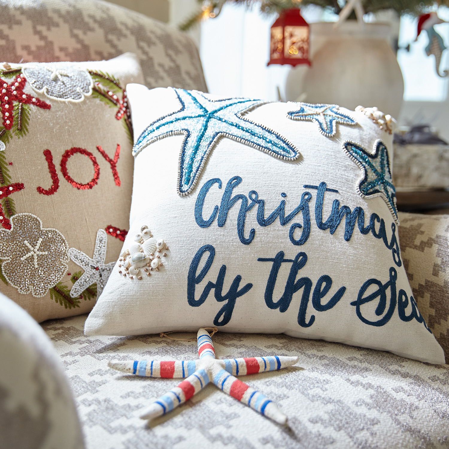 Christmas by the Sea Pillow