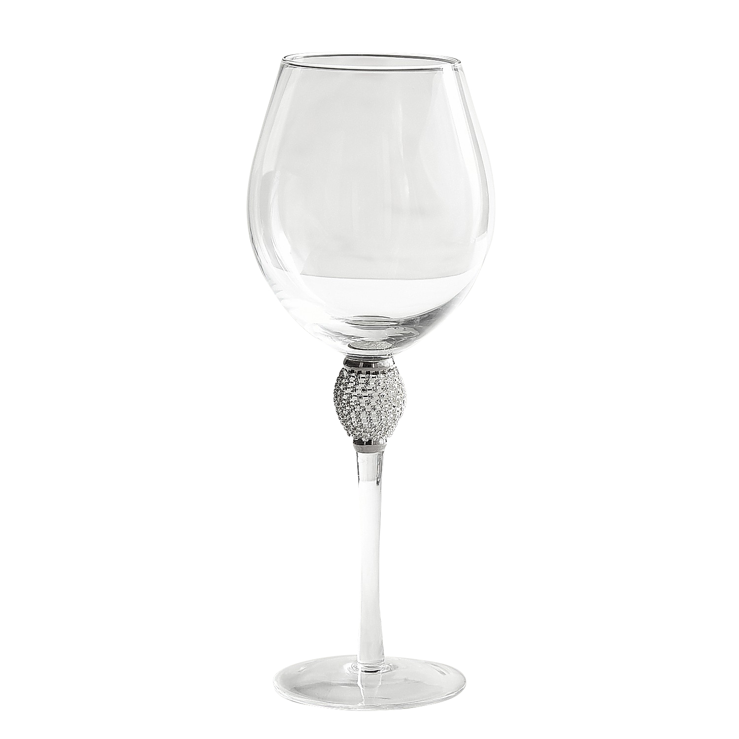 Jewel Silver Goblet Red Wine Glass